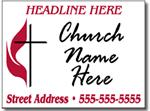 Style CH12 Church Sign Design
