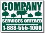 Design LC01 Lawn Care Sign Design