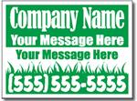 Style LC02 Lawn Care Sign Design