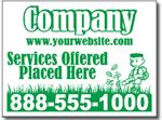 Style LC08 Lawn Care Sign Design