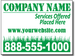 Style LC13 Lawn Care Sign Design
