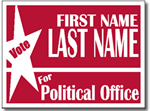 Style P101 Political Sign Design