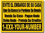 Style RE12 Spanish Short Sale Sign Design