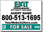 Style RE16 Exit Real Estate Sign Design