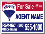 Style RE20 Re/Max Real Estate Sign Design