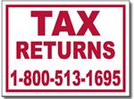 Design TAX01 Tax Sign Design