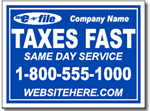 Style Tax03 Tax Sign Design