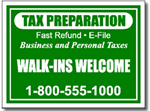 Style Tax05 Tax Sign Design