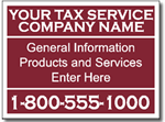 Style Tax10 Tax Sign Design