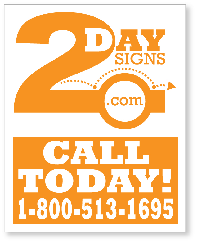 Printed poster board signs