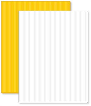 Blank Corrugated Plastic Yard Signs come in either White or Yellow