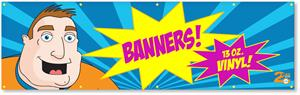 Custom Vinyl Banner - Full Color Vinyl Banner 3ft x 10ft Free Shipping