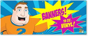 Digitally Printed Vinyl Banner 4ft x 10ft - Banner with Free Shipping!