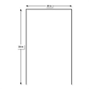 Poster Board Yard Sign Stakes 20'' x 33'' U-Shape Free Shipping