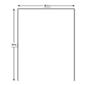Poster Board Yard Sign Stakes 26'' x 33'' U-Shape Free Shipping